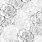Reticolo senza giunte della rosa dell'annata illustrazione di stock