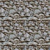 Reticolo senza giunte delle mattonelle di una parete di pietra Immagini Stock