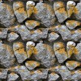Reticolo senza giunte delle mattonelle di una parete di pietra Fotografia Stock