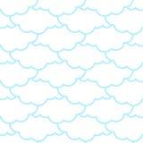 Reticolo senza giunte delle nubi Priorità bassa del cielo Retro ornamento per il grumo illustrazione di stock