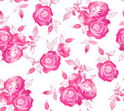 Reticolo senza giunte delle rose Fotografia Stock Libera da Diritti