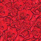 Reticolo senza giunte delle rose dell'annata Fotografia Stock