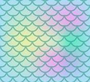 Reticolo senza giunte delle scale di pesci Peschi il fondo senza fine della pelle, coda della sirena che ripete la struttura Illu royalty illustrazione gratis