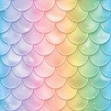 Reticolo senza giunte delle scale di pesci Struttura della coda della sirena nei colori di spettro Illustrazione di vettore illustrazione di stock