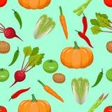 Reticolo senza giunte delle verdure Immagine Stock