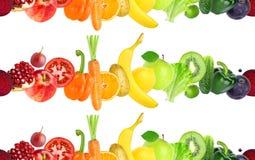 Reticolo senza giunte delle verdure e delle frutta Fotografie Stock Libere da Diritti