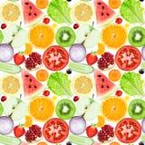 Reticolo senza giunte delle verdure e delle frutta Fotografia Stock