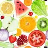 Reticolo senza giunte delle verdure e delle frutta Fotografia Stock Libera da Diritti