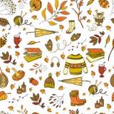Reticolo senza giunte di autunno Fotografie Stock Libere da Diritti