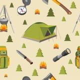 Reticolo senza giunte di campeggio Immagine Stock Libera da Diritti