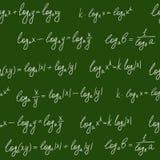 Reticolo senza giunte di formule della lavagna Immagini Stock