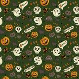 Reticolo senza giunte di Halloween illustrazione vettoriale
