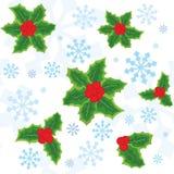 Reticolo senza giunte di natale con i fiocchi di neve illustrazione di stock