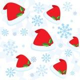 Reticolo senza giunte di natale con i fiocchi di neve illustrazione vettoriale