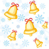 Reticolo senza giunte di natale con i fiocchi di neve royalty illustrazione gratis
