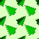 Reticolo senza giunte di vettore dell'albero di Natale Fotografia Stock