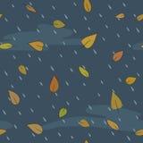 Reticolo senza giunte di vettore di autunno Fotografia Stock Libera da Diritti