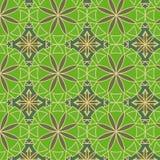 Reticolo senza giunte di vettore verde del limone Fotografie Stock