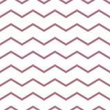 Reticolo senza giunte di zigzag Stampa geometrica astratta di progettazione di modo monocromatico illustrazione vettoriale