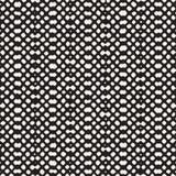 Reticolo senza giunte disegnato a mano Fondo geometrico astratto della piastrellatura in bianco e nero Linea alla moda grata di s Immagine Stock