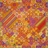 Reticolo senza giunte Elementi decorativi dell'annata Fondo disegnato a mano Islam, arabo, indiano, motivi dell'ottomano Fotografie Stock Libere da Diritti
