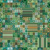 Reticolo senza giunte Elementi decorativi dell'annata Fondo disegnato a mano Islam, arabo, indiano, motivi dell'ottomano Immagine Stock Libera da Diritti