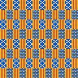 Reticolo senza giunte etnico Kente Cloth Stampa tribale illustrazione di stock