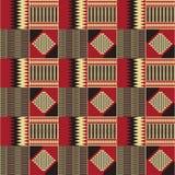 Reticolo senza giunte etnico Kente Cloth Stampa tribale illustrazione vettoriale