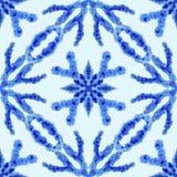 Reticolo senza giunte etnico Ornamento etnico di boho Il legame astratto del batik ha tinto il tessuto, tintura di Shibori Ripeti illustrazione di stock