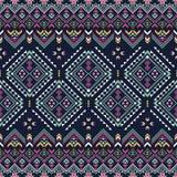 Reticolo senza giunte etnico Stampa tribale azteca di arte royalty illustrazione gratis