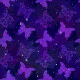 Reticolo senza giunte, farfalle Immagine Stock