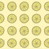 Reticolo senza giunte Fetta del limone Illustrazione di Stock