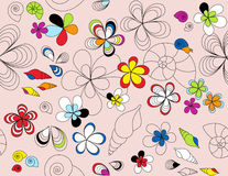 Reticolo senza giunte floreale royalty illustrazione gratis