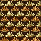 Reticolo senza giunte floreale Fondo moderno di vettore con i fiori Stampa del tessuto o progettazione di imballaggio illustrazione di stock