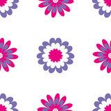 Reticolo senza giunte floreale Illustrazione di vettore con i fiori astratti Fotografia Stock Libera da Diritti