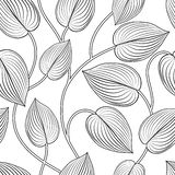 Reticolo senza giunte floreale Lascia la priorit? bassa Fiorisca la foglia del giardino illustrazione vettoriale