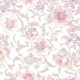 Reticolo senza giunte floreale Priorità bassa del fiore Fiorisca il tex del giardino royalty illustrazione gratis