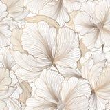 Reticolo senza giunte floreale Priorità bassa del fiore Testo del giardino di Flourish fotografia stock libera da diritti