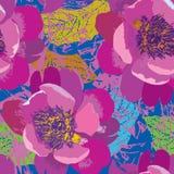Reticolo senza giunte floreale Priorità bassa del fiore Testo senza cuciture floreale Fotografia Stock Libera da Diritti