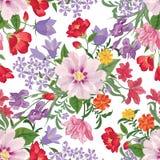 Reticolo senza giunte floreale Priorità bassa del fiore Testo senza cuciture floreale illustrazione vettoriale