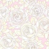 Reticolo senza giunte floreale Rose e peonie Immagine Stock Libera da Diritti