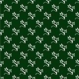 Reticolo senza giunte floreale verde scuro Fotografia Stock