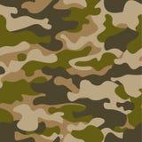 Reticolo senza giunte Fondo astratto del cammuffamento di caccia o dei militari Brown, colore verde Illustrazione di vettore ripe Immagine Stock Libera da Diritti