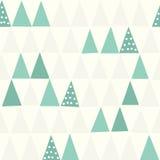 Reticolo senza giunte geometrico Albero di Natale Immagine Stock Libera da Diritti