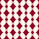 Reticolo senza giunte geometrico astratto di vettore Struttura rosso scuro e bianca del plaid illustrazione vettoriale