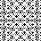 Reticolo senza giunte geometrico astratto Reticolo in bianco e nero di stile con il cerchio e la riga Immagine Stock