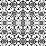 Reticolo senza giunte geometrico astratto Reticolo in bianco e nero di stile con il cerchio e la riga Fotografia Stock