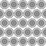 Reticolo senza giunte geometrico astratto Reticolo in bianco e nero di stile con il cerchio e la riga Fotografia Stock Libera da Diritti
