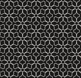 Reticolo senza giunte geometrico di vettore Linee sottili, griglia sottile, motivo floreale Fondo di lusso illustrazione di stock