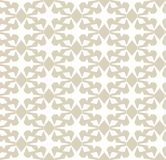 Reticolo senza giunte geometrico di vettore Oro elegante e fondo bianco dell'ornamento illustrazione vettoriale